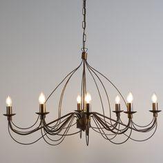 Candelabro ZERO BRANCO 8 bronce envejecido  #lamparas #decoracion #iluminacion