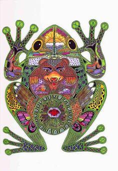 Doodle frog by Grietjie Zen Doodle, Doodle Art, Zantangle Art, Frog Art, Doodles Zentangles, Frog And Toad, You Draw, Native American Art, Art Plastique
