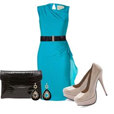 """Teal"" by ohmeejean on Polyvore"