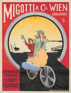 Buy online, view images and see past prices for Migotti & Cie. Invaluable is the world's largest marketplace for art, antiques, and collectibles. Retro Bicycle, Vintage Bicycles, Different Sports, Bicycle Tires, Cycling Art, Photomontage, Vintage Posters, Graphic Art, Art Nouveau