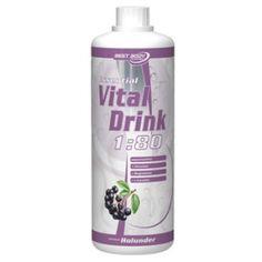 Der Essential Vital Drink Holunder mit L-Carnitin und wichtigen Vitaminen und weniger als 0,72 kcal je dl Fertiggetränk - ist wieder an Lager.