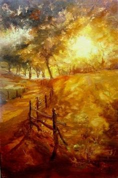 """Along Ashelot Road"" by Scott Mattlin Oil"