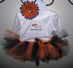 Broncos Tutu Outfit  Infant by strawberryluv on Etsy, $32.00