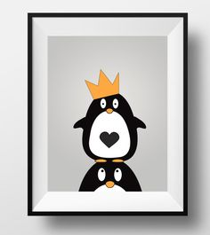 Penguin art animal nursery print penguin by DesignsByLittlePitti