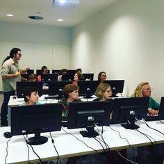 A informàtica bàsica avui aprenen el funcionament del teclat #quèfemalesbiblios #Esparreguera #formacio
