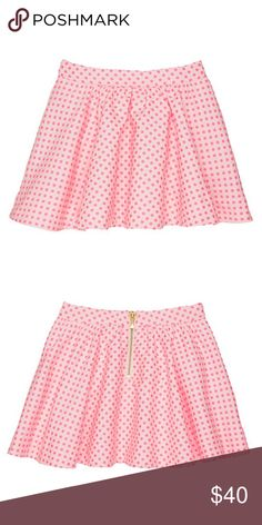 Kate spade skirt size 8 (kids) Girls size 8 Coreen pink dotted skirt. Feel free to make an offer. New with tags kate spade Bottoms Skirts