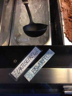 Und weisen ihre Eiswürfel als laktosefrei aus: