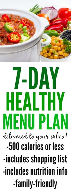 need help with planning healthy family dinners we will email you a new menu plan