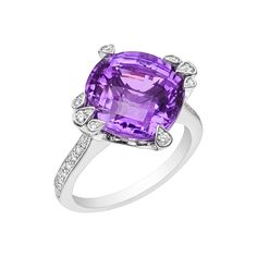 Cartier Amethyst & Diamond Cocktail Ring - Sold at Betteridge