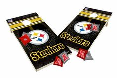 Pittsburgh Steelers Tailgate Toss XL Shields Edition Cornhole Board U0026 Bean  Bag Set