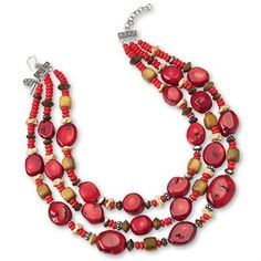 Three-Strand Coral Necklace | King Ranch