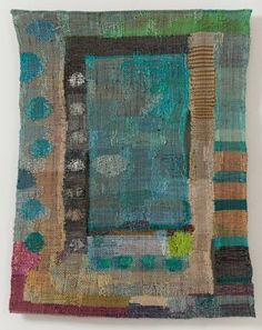 inka kivalo - great color inspiration for a modern crib quilt. Contemporary Tapestries, Contemporary Quilts, Weaving Textiles, Tapestry Weaving, Fabric Painting, Fabric Art, Textile Artists, Embroidery Art, Quilt Making