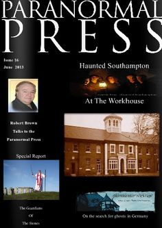 Issue 16 of The Paranormal Press, front cover. You can read the journal here. http://issuu.com/hauntedsouthampton/docs/press16jun