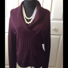 Ralph Lauren Cashmere Sweater Ralph Lauren Cashmere Sweater. This sweater is new with tags. Color: Aubergine. Size medium. No holes, rips, tears, or discoloration. Come from a smoke free home. Ralph Lauren Sweaters