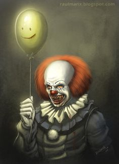 I saw the IT (tv-movie) yesterday and I had a great nostalgia attack and I wanna do some fan art of Pennywise Clown, I remember when I was a child, this clown dont let me sleep for weeks! Pencil sk...