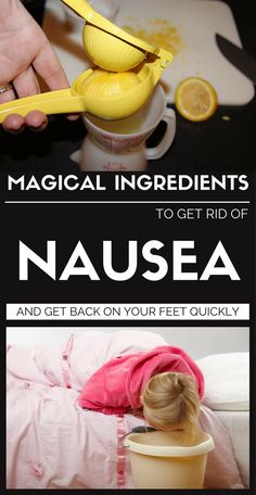 Magical Ingredients To Get Rid Of Nausea And Get Back On Your Feet Quickly - Page 2 of 2 - Daily Health News Home Remedies For Nausea, Hangover Remedies, Natural Home Remedies, Herbal Remedies, Health Remedies, Hangover Nausea, Vomiting Remedies, Stomach Flu Remedies, Get Rid Of Nausea