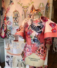 Summer 2019 | Now in the window at the flagship store in Mayfair. The installation gives an insight into the inspiration, processes and techniques that Alice and her design team used to create the Summer 19 collection Temperley, Floral Tops, Ready To Wear, Gowns, London, Boutique, Insight, How To Wear, Instagram Summer
