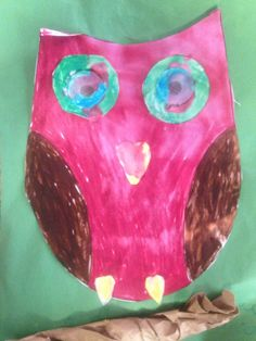 An owl colored in marker by Andrea, 7 years old • Art My Kid Made #kidart