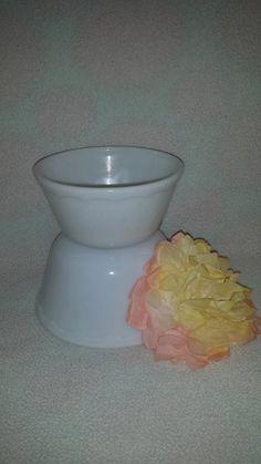$22--Vintage Heavy Milk Glass Mixing Bowls Circa 1950's *  Milk Glass Bowl with Scalloped Swag around Rim * Vintage Milk Glass by JunkYardBlonde on Etsy
