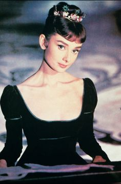 Audrey Hepburn, a true queen of fashion in her day.
