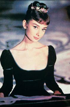 Audrey Hepburn, a true queen of fashion in her day.