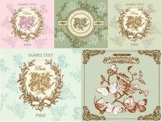vintage decorate border vector