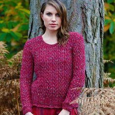Merlot Knit Sweater Pattern: Made this sweater, pattern is really quite easy. I knitted to the sleeves in one piece since I hate seams.