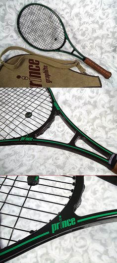 """Sold Vintage PRINCE OVER SIZE GRAPHITE TENNIS RACKET 4 1/2"""" w/ Original Cover"""