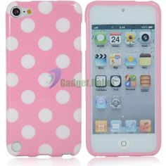 New Gel TPU Soft Skin Case Cover for iPod Touch 5 5g 5th Pink White Spot GR | eBay