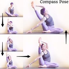 "407 Likes, 56 Comments - Laura Large (@omniyogagirl) on Instagram: ""✨Compass Pose Tutorial ✨ #omniyogagirltips . Warm up your hamstrings & hips before you begin! . 1.…"""
