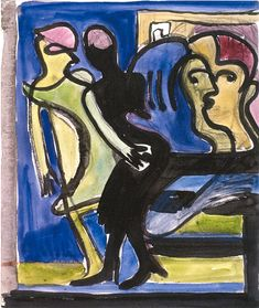 View into a Cafe by @artistkirchner #expressionism