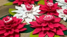 Easy Diy how to make   felt flowers tutorial come realizzare fiori in fe...