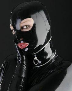 2015新しい ファッション天然ラテックス ゴム フード マスク なし で ネック サークル ため大人プラス サイズ熱い販売