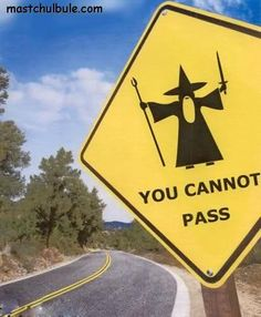 You..Shall Not...Pass!