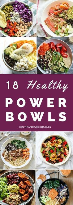 Looking for a lunch option that will keep you full and focused until dinner? Try one of these 18 Healthy Power Bowls! #eatclean