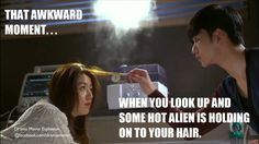 Man From the Stars...:) Totally happens all the time to me....maybe not.