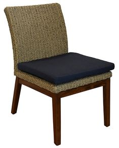 Jensen Leisure Coral Woven Side Chair Spectrum Indigo Fine Furniture, Furniture Styles, Outdoor Furniture, Ipe Wood, Dining Arm Chair, Cushion Fabric, Furniture Collection, Side Chairs, Floor Chair