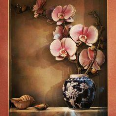 Kağıt Rölyef,Paper Art,El Yapımı,Handmade Cross Wall Art, Koi Painting, 3d Paper Art, Floral Pins, Vintage Paris, Faux Flowers, New Art, Flower Art, 3 D