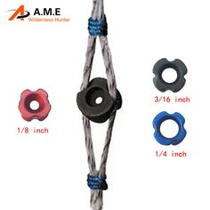 """3pcs Archery Sighting Device Archery Bow Peep Sight 1/8"""",1/4"""",3/16"""" Hunting & Shooting Compound Bow Sight Accessories"""