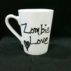 Get your very own awesome Zombie Love mug or wine glass at www.thelovelycraftroom.etsy.com now!! :) #thewalkingdead