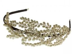 Laurel headdress. Freshwater pearl leaves, perfect for a Grecian wedding. Hermione Harbutt. http://www.hermioneharbutt.com
