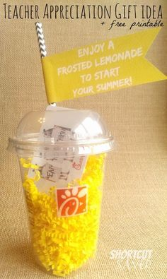 Teacher Appreciation week is May 4th-8th! Create a fun, inexpensive teacher gift by purchasing a Chick-Fil-A gift card & using a few other simple supplies.