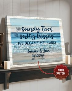 Product Poster, Sandy Toes, Canvas Poster, Custom Photo, Canvas Material, 5 Years, Cotton Canvas, Solid Wood