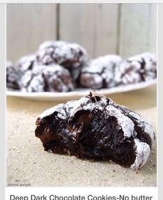 Flourless, Butterless Rich Chocolate Cookies!!