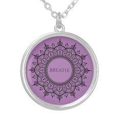 Mandala Breathe Silver Plated Necklace