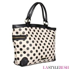 Betsey Johnson's Spot On is the perfect uptown girl bag. This tote bag features patterned synthetic leather, double handle straps, exterior zipper pockets, decorative hardware accents, Betsey Johnson logo plaque, back-wall zip pocket and elasticized slip pockets, print-lined interior, and magnetic snap closure.Get your uptown girl bag at LAStyleRush.com !
