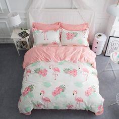 NEW - Quirky Flamingo Design Duvet Cover Set #ModernBedSheets #DesignerBedSheets