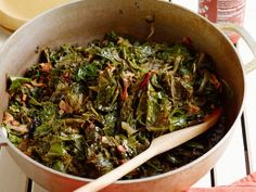 Cooking Channel serves up this Sherla's Southern Greens recipe from Michael Symon plus many other Picnic Side Dishes, Side Dishes For Bbq, Side Dish Recipes, Vegetable Recipes, Chard Recipes, Bacon Recipes, Free Recipes, Dinner Recipes, Cooking Channel Recipes