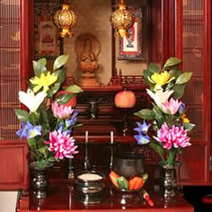 photos of buddhist alters   Where should I put my altar?