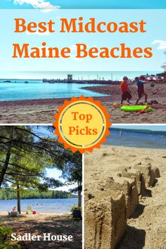 Making a coastal summer travel bucket list for New England? Click through for our top picks for best lake and sea beaches for families in midcoast Maine. Maine Beaches, England Beaches, Boothbay Maine, Boothbay Harbor, Maine Road Trip, Road Trips, Barcelona Beach, New England States, Serenity Now